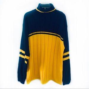 NWT Veezo Men Navy/Yellow Sweater Size L